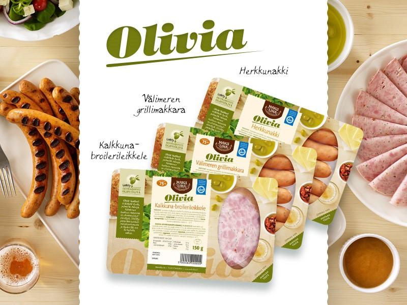 Olivia-tuotteilla hyviä rasvoja ruokapöytään